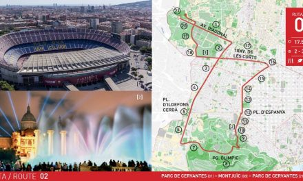 RUTA 2 BARCELONA: PARC DE CERVANTES – MONTJUÏC – PARC DE CERVANTES