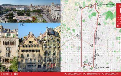 RUTA 8 BARCELONA: PL. CATALUNYA – PL. BONANOVA – PL. CATALUNYA