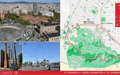 RUTA 13 BARCELONA: PL. D'ESPANYA – CASTELL DE MONTJUÏC – PL. D'ESPANYA
